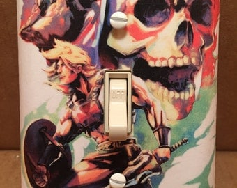 Masters of the Universe Light Switch Cover - Handmade - He-Man - Skeletor