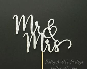 Mr & Mrs Cake Topper, Wedding Cake Topper