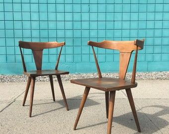 Paul McCobb | Mid Century Pair Arm Side Chairs | Planner Group