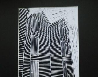Limited Edition Digital Print of Original Lino cut