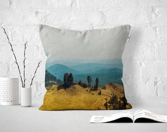 Throw Pillow Les Sierras No 6815, Outdoor or Indoor Pillow Cover