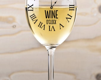 It's Wine O'clock SVG Cutting File Vinyl Decal for Wine Glass Mugs SVG files for Silhouette Cameo Cut Files Svg Cutting Files SVG Decal