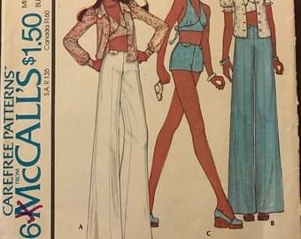 McCalls 4426 - 1970s Bikini Halter Top, Blouse, Pants, and Shorts - Size 8 Bust 31.5