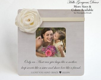 Aunt Picture Frame Personalized Gift to Aunt Auntie Gift from Niece Nephew Custom Photo Frame New Aunt New Baby First Time Aunt Gift Ideas