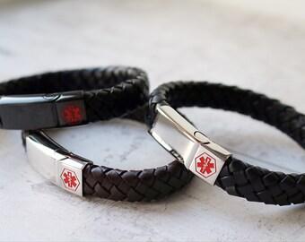 Medical Alert Bracelet - Personalised Medical Alert Bracelet - Range of Colours & Sizes