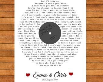 First Dance Song Lyrics, Song Lyrics, Special Memories, Home Decor, PRINT ONLY
