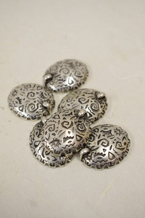 Beads Vintage 6 Antique Silver Plated Pierced or Clip Earrings Pendant Handmade Jewelry Necklaces Bracelets Earrings Creative Vintage 4