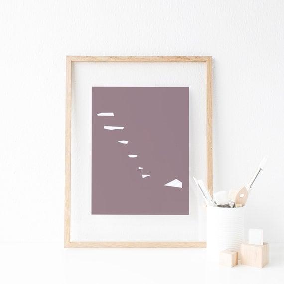 Minimalist art poster design affiche scandinave home decor - Affiche design scandinave ...