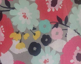 100% Cotton - Quilting Fabric - Quilting Cotton - Floral Fabric - Large Floral - Bright Floral Fabric - Fabric By The Yard -