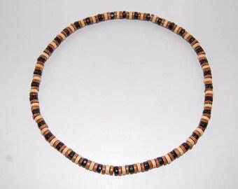 Wood Necklace,Men Wood surfer necklace,Tribal style,Surfer Necklace,Chocker,Beach necklace,Bohemian,Man,Choker,Stretch,Mens,Wood Choker