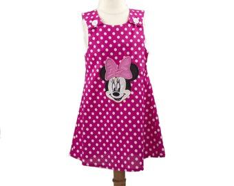 Minnie 1st Birthday toddler Minnie dress Minnie party dress Minnie outfit dress Minnie custom name Minnie sleeveless Minnie personalized
