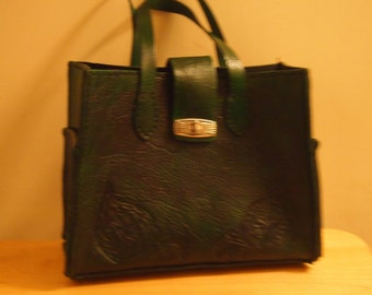 Forest Green Leather Handbag