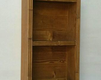 Rustic wooden shelf