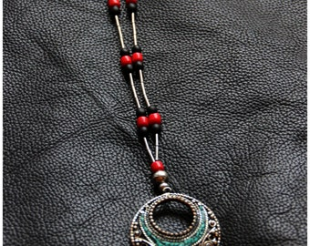 SALES !!Nepali Pendant with Huayruro seeds - Tribal - Gypsy - Ethnic - Travelling - Design - Unique