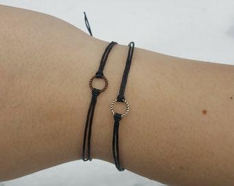 Circle Bracelet, Dainty Circle Bracelet, Stacking Bracelet, Karma Bracelet, Open Circle, Karma Circle, Delicate Bracelet, Tiny Circle, Love