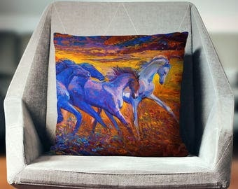 Horse Gifts for Girls | Horse Gifts | Horse Decor | Equestrian Decor | Horse Pillow | Equestrian Gifts | Equestrian Pillow |