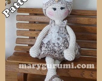 "Crochet Pattern, pattern, tutorial, Amigurumi doll, Bénédicte ""OWL"""