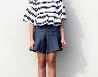 Blue tennis shorts
