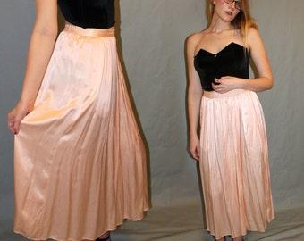 Pink maxi skirt   Etsy
