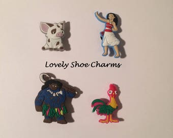 Moana Shoe Charms/Jibbitz (Set of 4) Kids Shoe Accessories