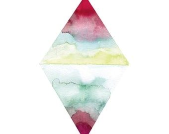 "Art Print (Gouache) - 8x10 - ""Diamond"""