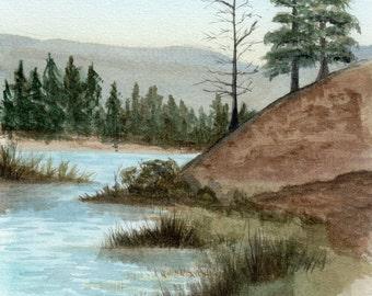 """Original Watercolor Painting 9x6"""" Landscape"""