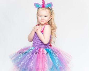 Unicorn Costume, Unicorn Headband, Unicorn Horn, Unicorn Party, Unicorn Birthday Dress, Girls Unicorn Dress, Unicorn Tutu, Tutu Dress