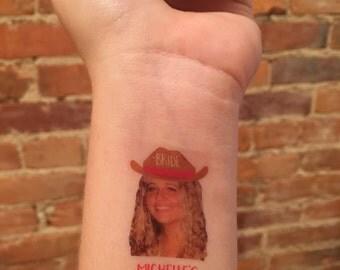 custom personalized bachelorette party PHOTO temporary tattoo // nash bash // nashville bachelorette favor