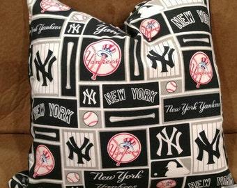 New York Yankees Decorative Throw Pillow Baseball Throw Pillow Ny Yankees Baseball Home Decor