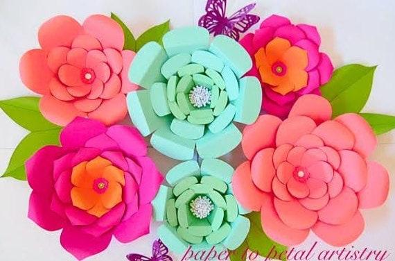 DIY Easy Large Paper Flowers, Flower templates & patterns, Backdrop ...