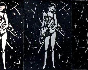 Moon Moth Relief Print