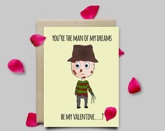 Freddy Krueger Nightmare on Elm Street Horror Valentines Cards