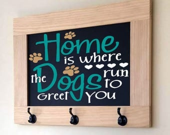 Dog Leash Holder, Dog Leash Hook, Leash Holder, Key Hook, Custom Dog Leash Holder, Leash Hook, Pet Home Decor, Leash and Key Holder, Custom