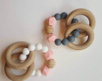Teething Toy/Silicone bead teether/Wooden Teether/