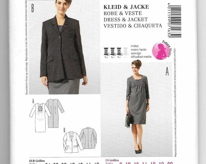 Burda Style 7163 Maternity Dress Jacket Sewing Pattern Misses 8-10-12-14-16-18-20