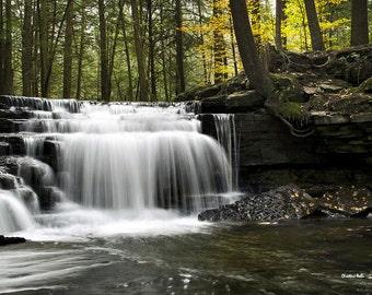 Landscape Photography, Waterfall Print, Fine Art Photography, Waterfall Photography, Wall Art, Photo Print, Salt Springs Pennsylvania