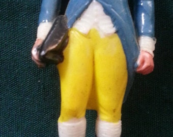 """MARX hand painted 2-3/4"""" US President #1 George WASHINGTON - Excellent Condition 1960's"""