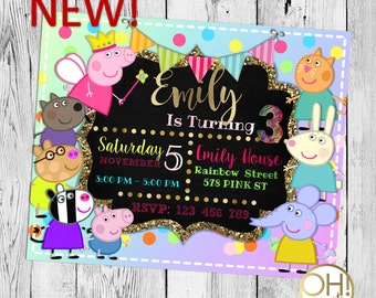Peppa pig invitation birthday, invitation peppa pig, peppa pig invitation, peppa pig party, peppa birthday, birthday peppa pig, peppa pig
