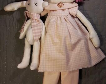 Annie doll with bear