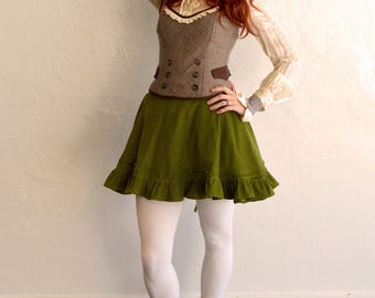 Steampunk Lolita Spiral Boned Fashion Corset