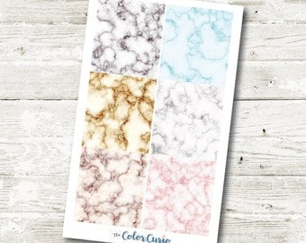 Marble Header Stickers for Erin Condren Life Planner and The Happy Planner