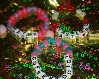 Beaded Foodie Bracelets lot of 3!
