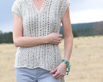 Easy Crochet Top Patterns For Beginners : Crochet Sweater Etsy Studio