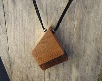 Black Dipped Mahogany Necklace