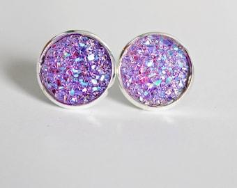 Druzy Studs // Boho Jewelry // Sparkly Earrings // Boho Fashion // Druzy Earrings