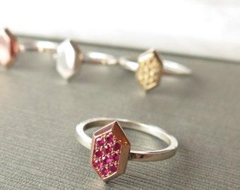 10K Rose Gold andRuby Rupee Ring, Legend of Zelda inspired Ring, Nintendo Ring, Gold and Sterling Silver Zelda Ring