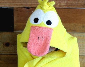 Childerns hooded duck towel