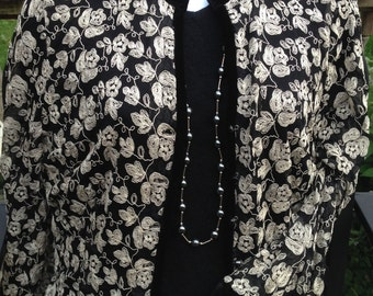 embrodied shirt, Embroidered  light jacket, , black and white jacket, black jacket