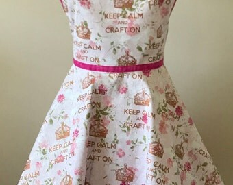 Keep Calm and Craft On Apron