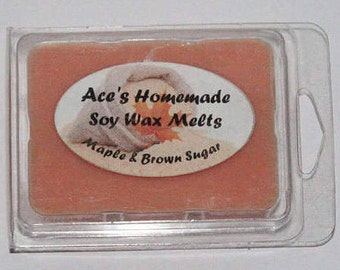 Maple and brown sugar soy wax melts, maple soy wax melts, scented soy wax melts